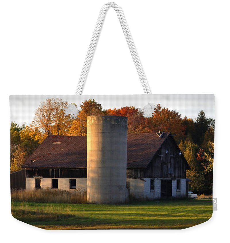 Fall Weekender Tote Bag featuring the photograph Autumn Evening by Tim Nyberg