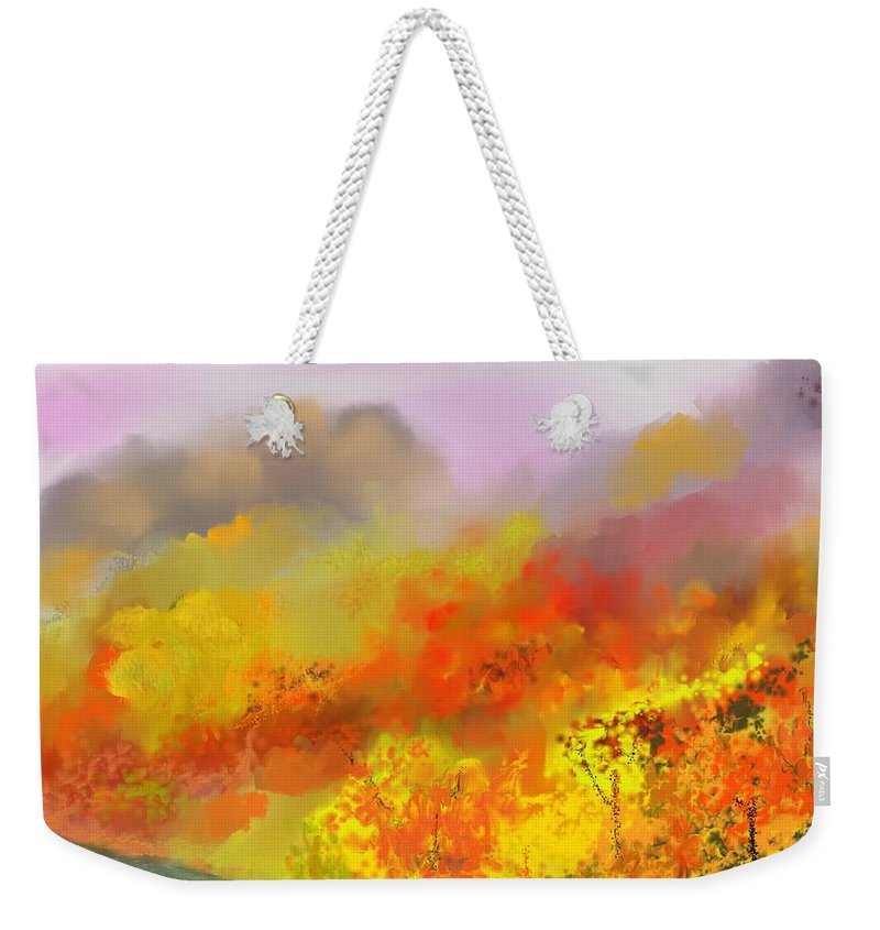 Autumn Weekender Tote Bag featuring the digital art Autumn Expression by David Lane