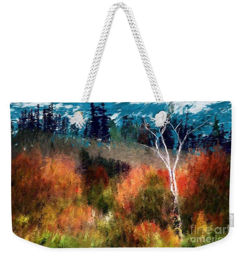 Digital Photo Weekender Tote Bag featuring the digital art Autumn Feel by David Lane