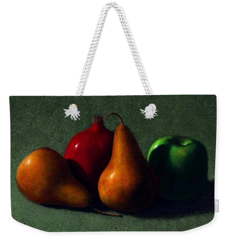 Still Life Weekender Tote Bag featuring the painting Autumn Fruit by Frank Wilson