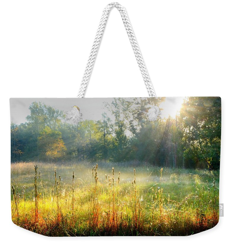 Fall Weekender Tote Bag featuring the photograph Autumn Glow by Charlotte Schafer