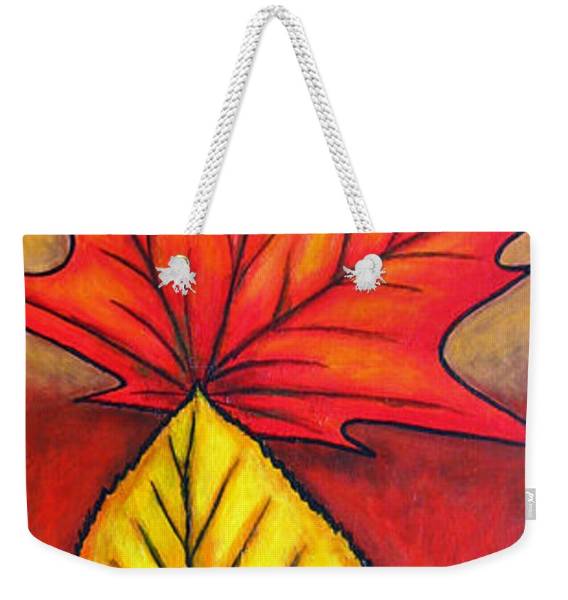 Autumn Weekender Tote Bag featuring the painting Autumn Glow by Lisa Lorenz