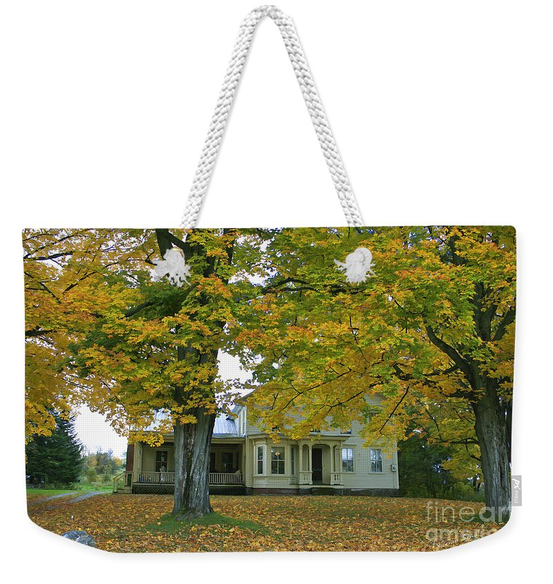 Autumn Weekender Tote Bag featuring the photograph Autumn In Franklin by Deborah Benoit