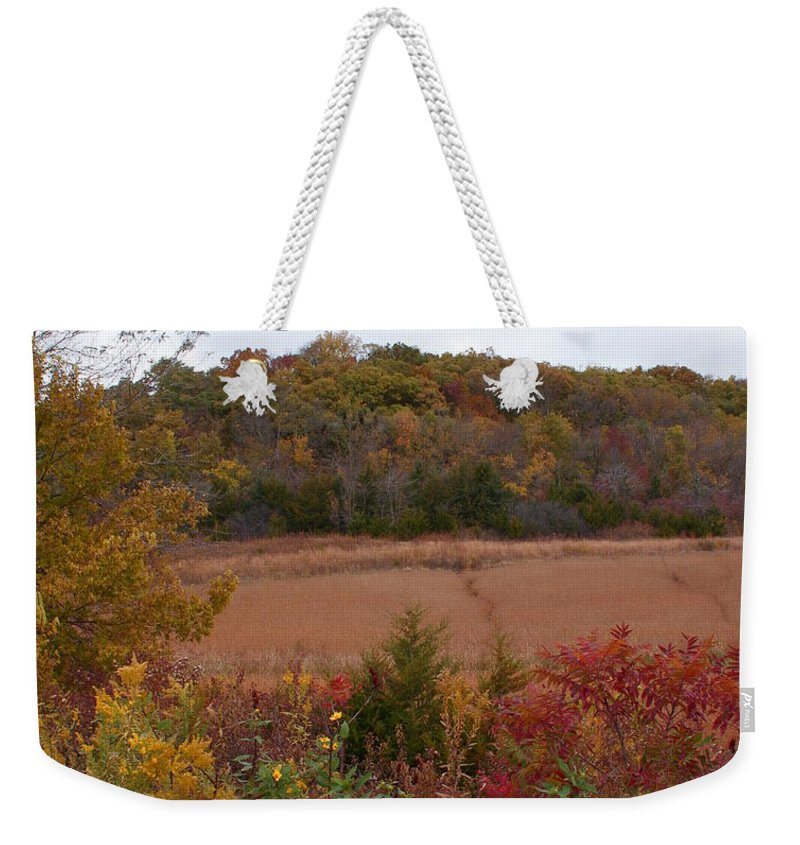 Missouri Autumn Weekender Tote Bag featuring the photograph Autumn In Missouri by Joanne Smoley