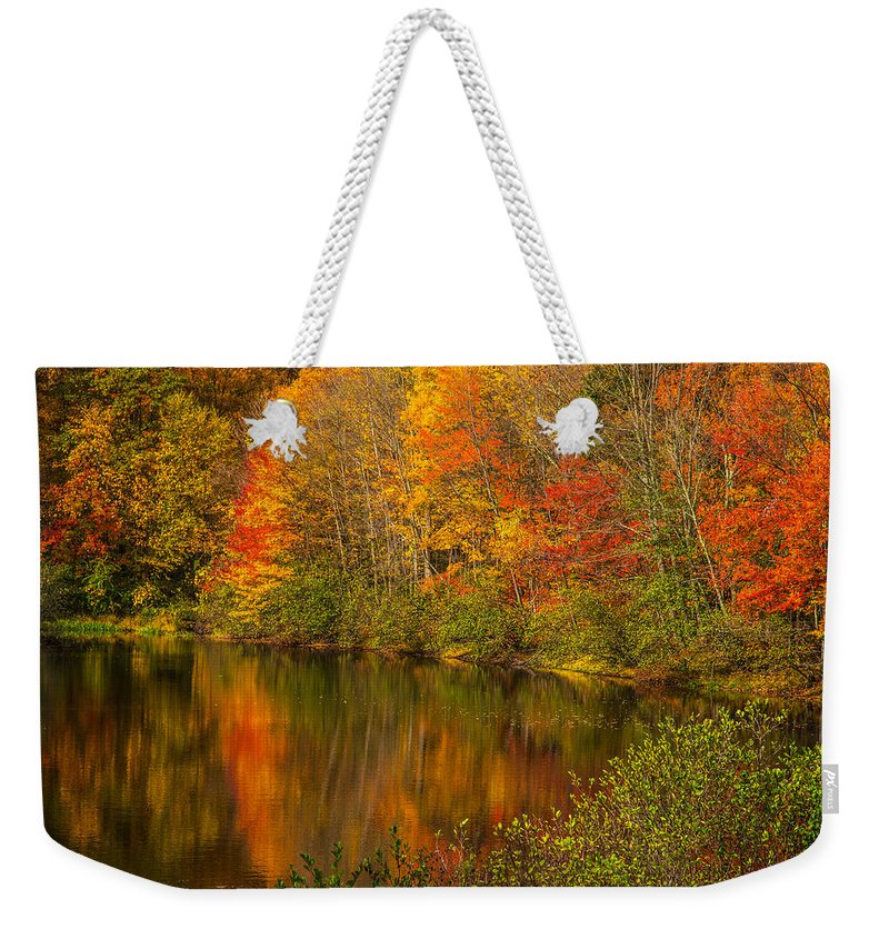 Autumn In Monroe Weekender Tote Bag featuring the photograph Autumn In Monroe by Karol Livote