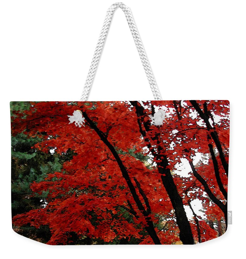Autumn Weekender Tote Bag featuring the photograph Autumn In New England by Melissa A Benson