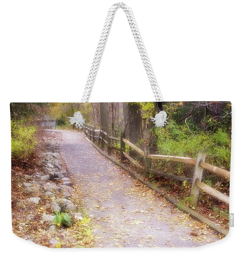2d Weekender Tote Bag featuring the photograph Autumn In The Park by Brian Wallace