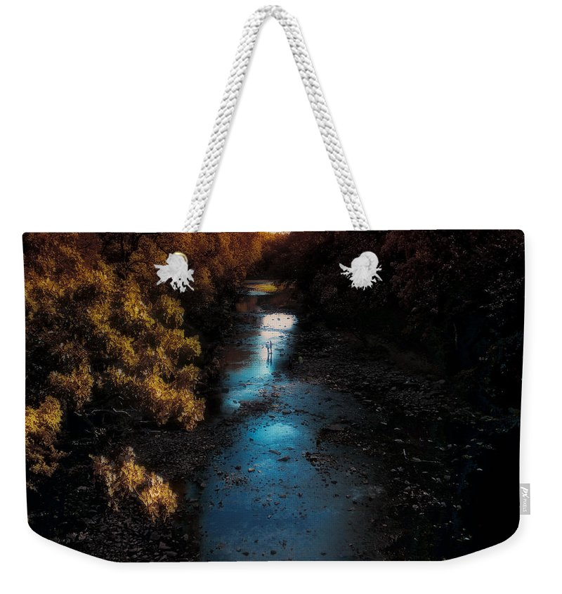 Autumn Weekender Tote Bag featuring the photograph Autumn In The Tributary by Thomas Woolworth