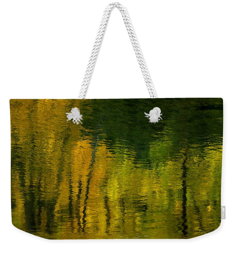Water Weekender Tote Bag featuring the photograph Autumn In Truckee by Donna Blackhall