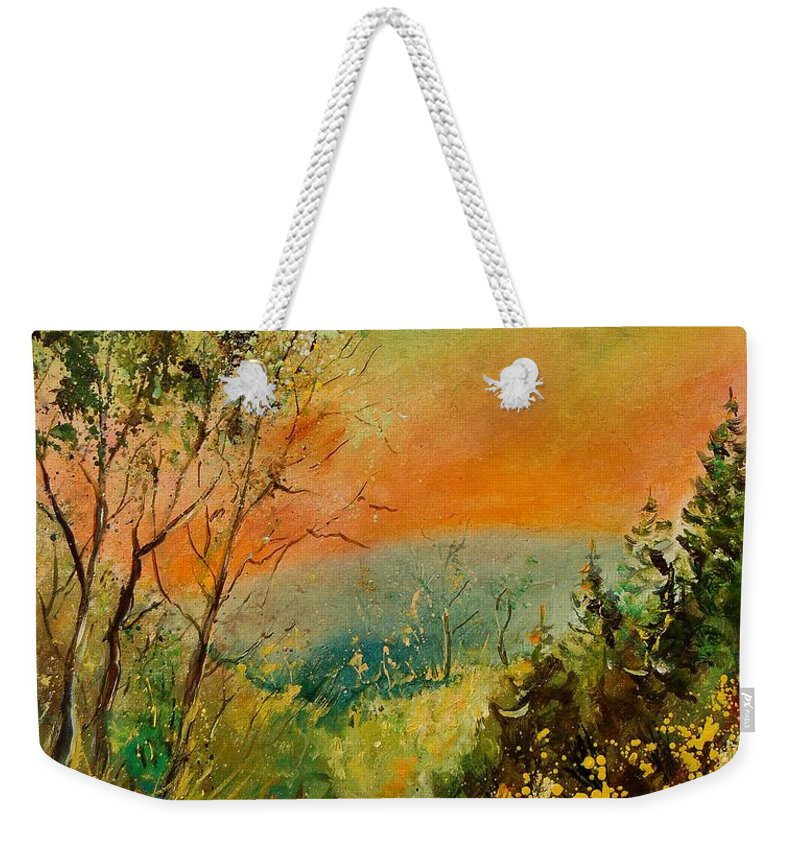 Tree Weekender Tote Bag featuring the painting Autumn Landscape 5698 by Pol Ledent