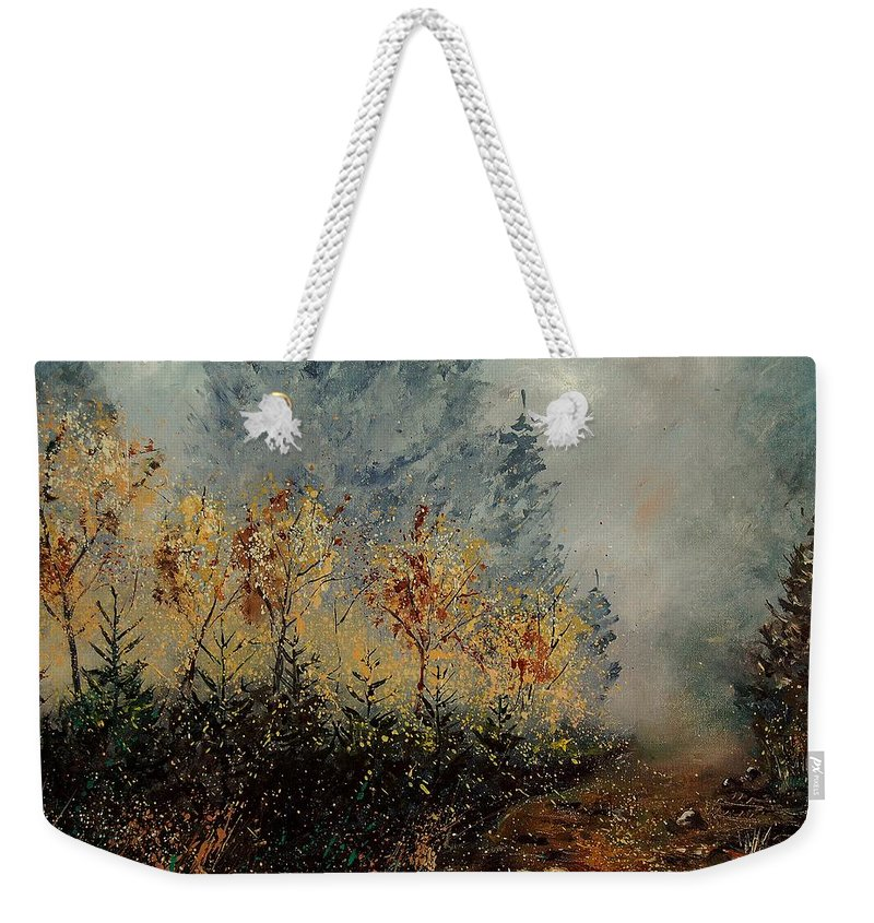 Tree Weekender Tote Bag featuring the painting Autumn Landscape by Pol Ledent