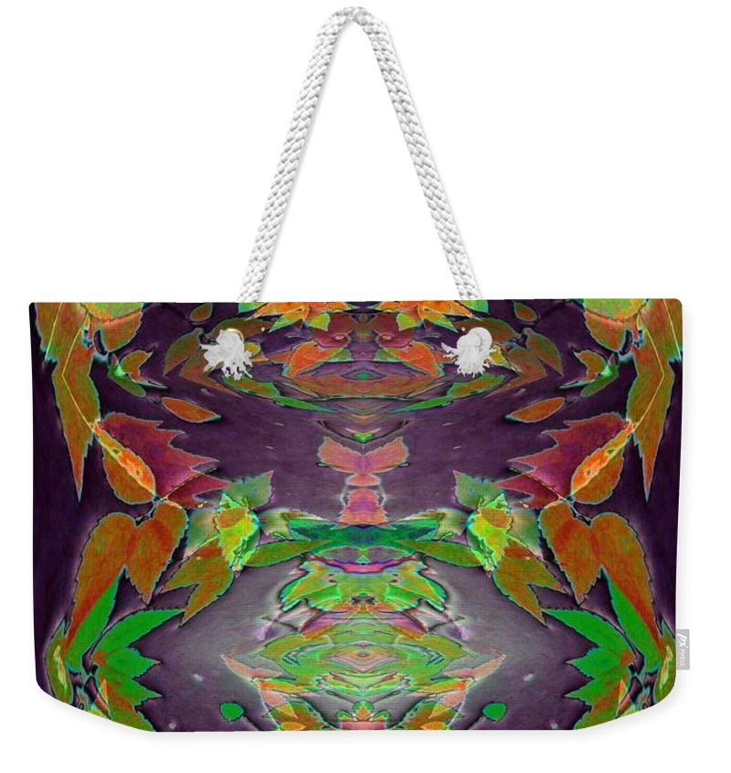 Autumn Weekender Tote Bag featuring the photograph Autumn Leaf Delight by Tim Allen