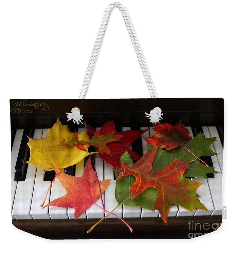 Autumn Weekender Tote Bag featuring the photograph Autumn Leaves - A Love Song by Dora Sofia Caputo Photographic Design and Fine Art