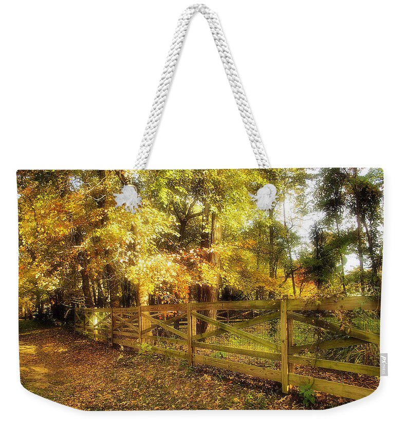 2d Weekender Tote Bag featuring the photograph Autumn Leaves by Brian Wallace