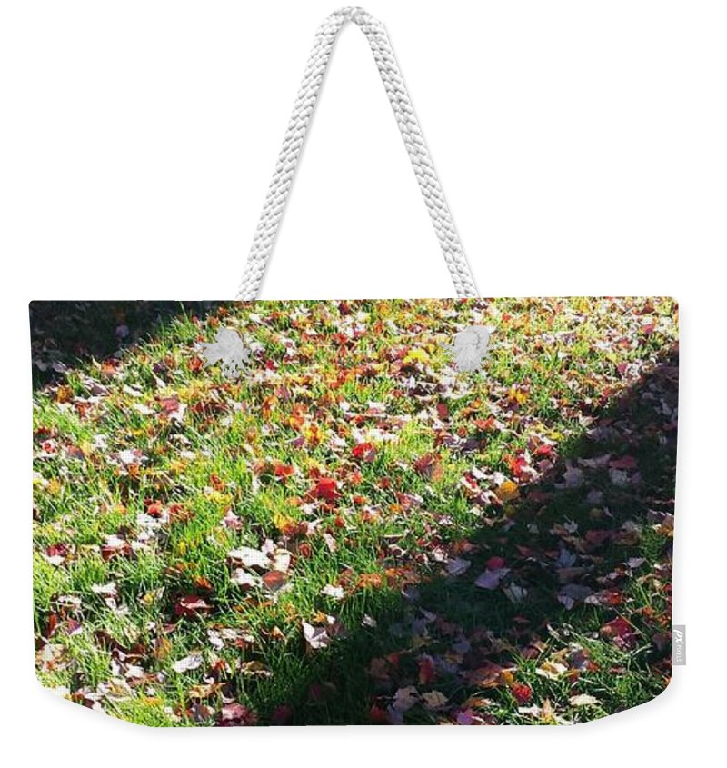 Leaves Weekender Tote Bag featuring the photograph Autumn Leaves by Erica Degni