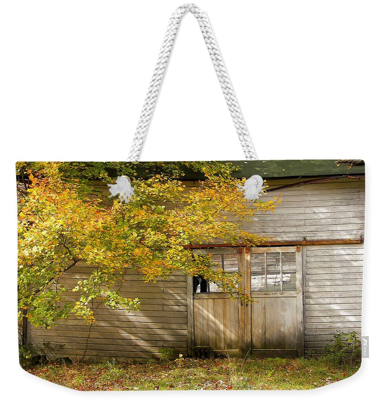 Autumn Weekender Tote Bag featuring the photograph Golden Lights by JAMART Photography