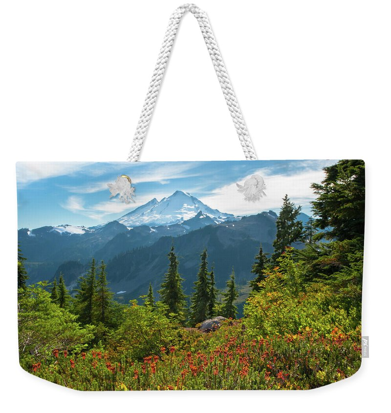 Mount Baker Weekender Tote Bag featuring the photograph Autumn Is Calling by Crystal Hoeveler
