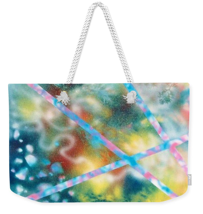 Abstract Weekender Tote Bag featuring the painting Autumn by Micah Guenther