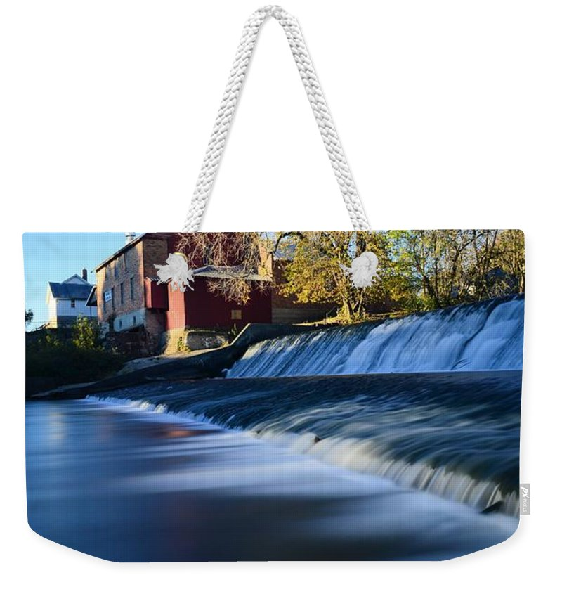 Mill Weekender Tote Bag featuring the photograph Autumn Mill Portrait by Bonfire Photography