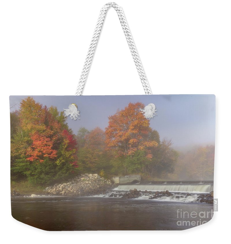 Autumn Weekender Tote Bag featuring the photograph Autumn On The Moose II by Rod Best