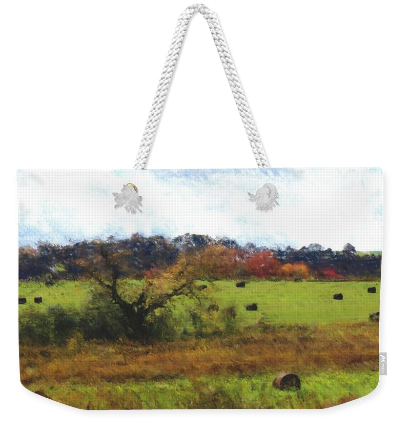 Digital Photograph Weekender Tote Bag featuring the photograph Autumn Pasture by David Lane