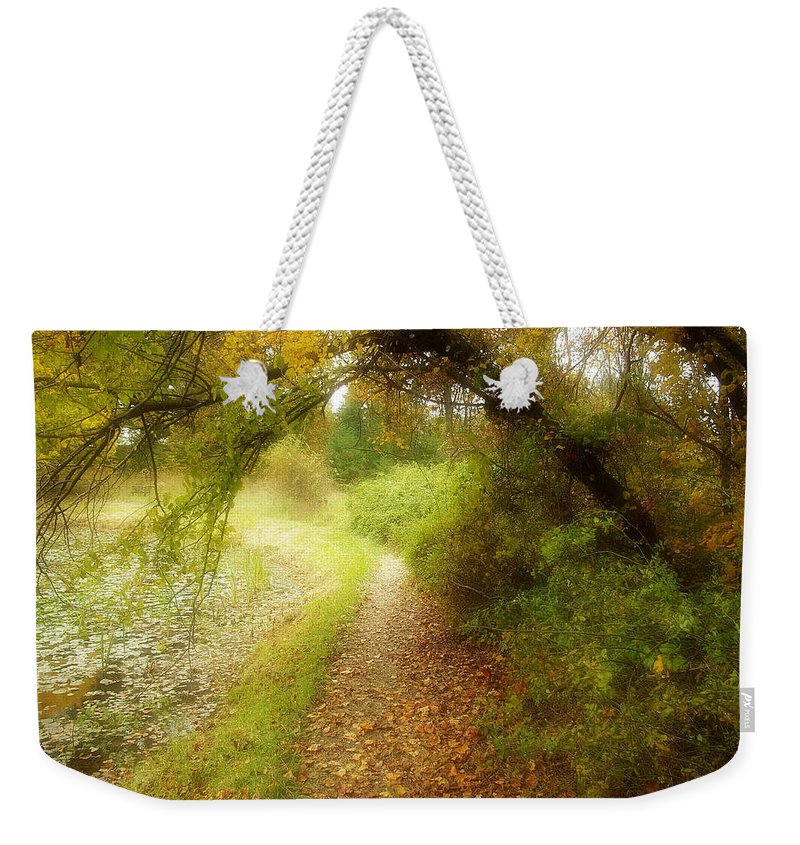 2d Weekender Tote Bag featuring the photograph Autumn Path by Brian Wallace