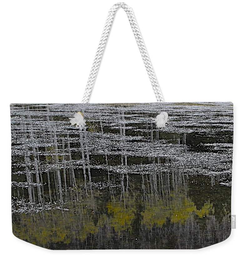 Abstract Weekender Tote Bag featuring the photograph Autumn Pond by FlyingFish Foto