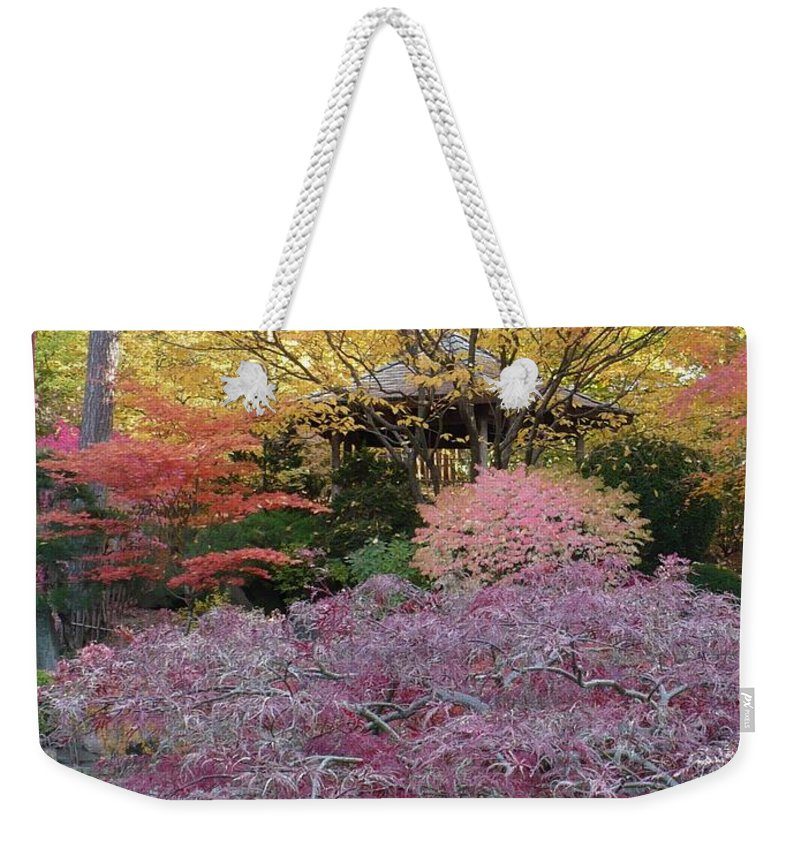 Fall Weekender Tote Bag featuring the photograph Autumn Purple by Carol Groenen