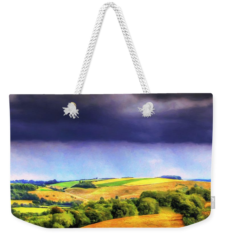 Rain Weekender Tote Bag featuring the painting Autumn Rain by Dominic Piperata