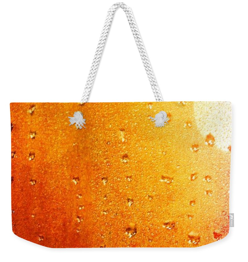 Autumn Raindrops Weekender Tote Bag featuring the painting Autumn Raindrops by Dan Sproul