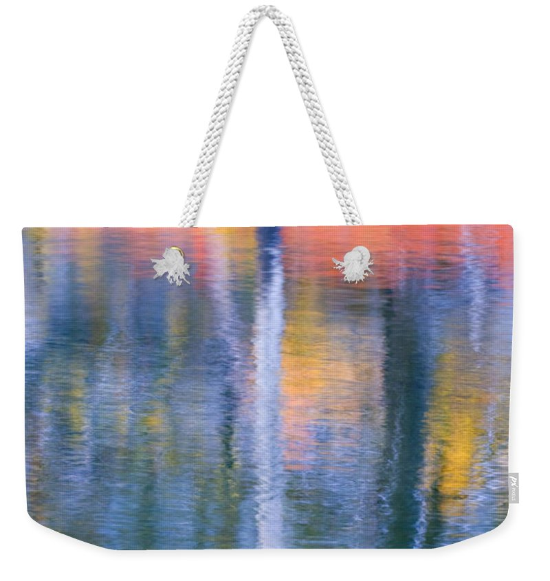Reflection Weekender Tote Bag featuring the photograph Autumn Resurrection by Mike Dawson