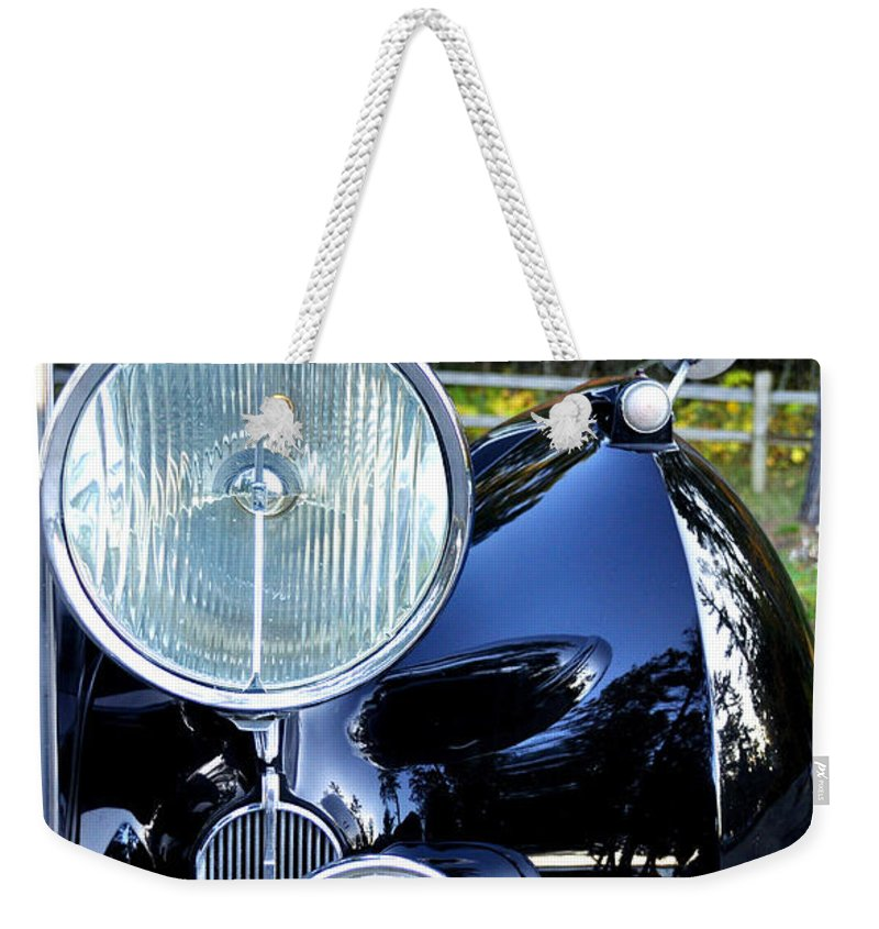 Car Weekender Tote Bag featuring the photograph Autumn Rolls by Tim Nyberg
