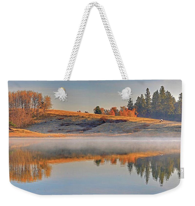 Autumn Weekender Tote Bag featuring the photograph Autumn Rumours by Darrel Giesbrecht