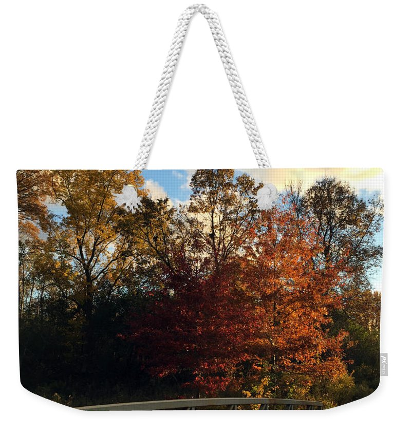 Autumn Weekender Tote Bag featuring the photograph Autumn Rust by Kaeleigh Gray