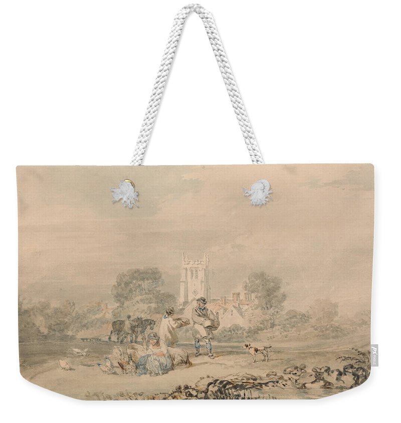 18th Century Art Weekender Tote Bag featuring the painting Autumn Sowing Of The Grain by Joseph Mallord William Turner