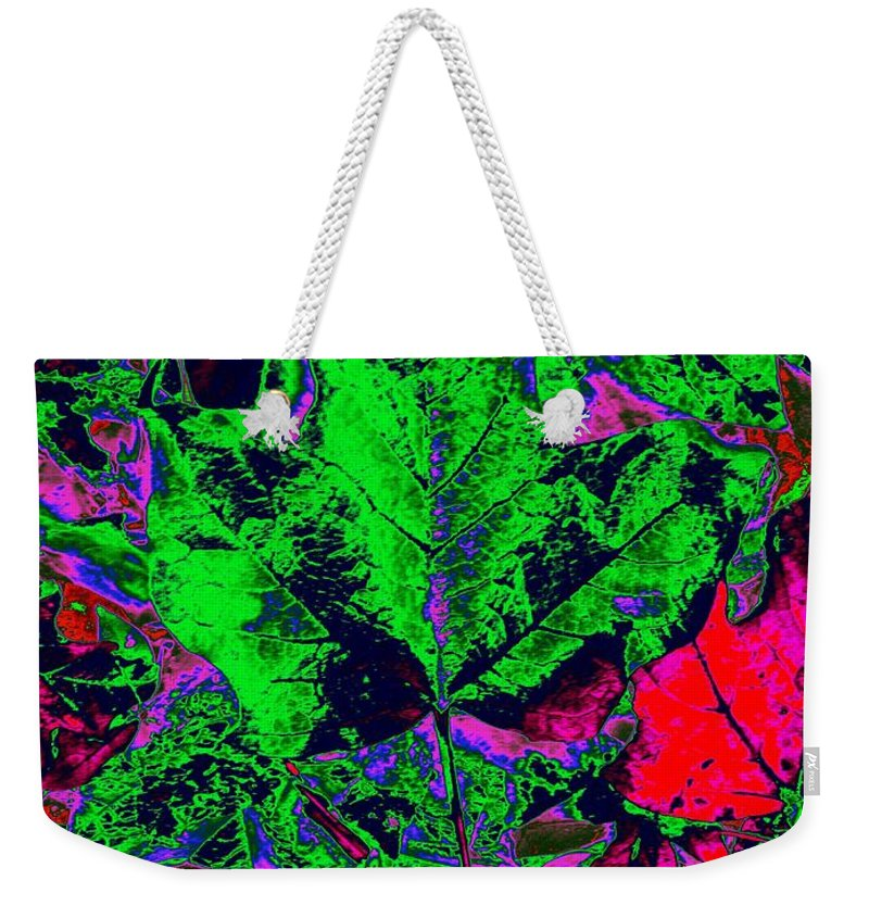 Autumn Weekender Tote Bag featuring the digital art Autumn Splash by Tim Allen