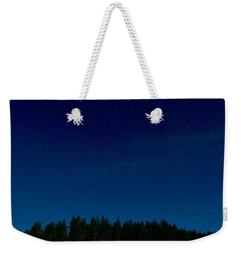 Lehtokukka Weekender Tote Bag featuring the photograph Autumn Stars 2 by Jouko Lehto