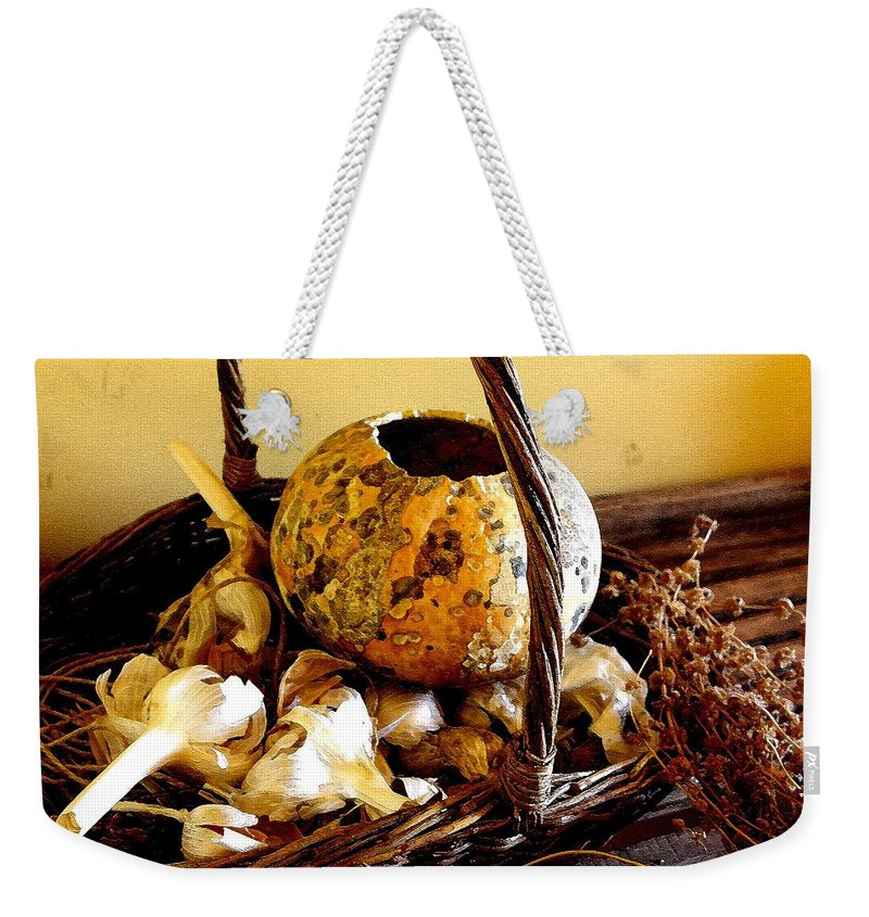 Still Life Weekender Tote Bag featuring the photograph Autumn Still Life by Nelson Strong