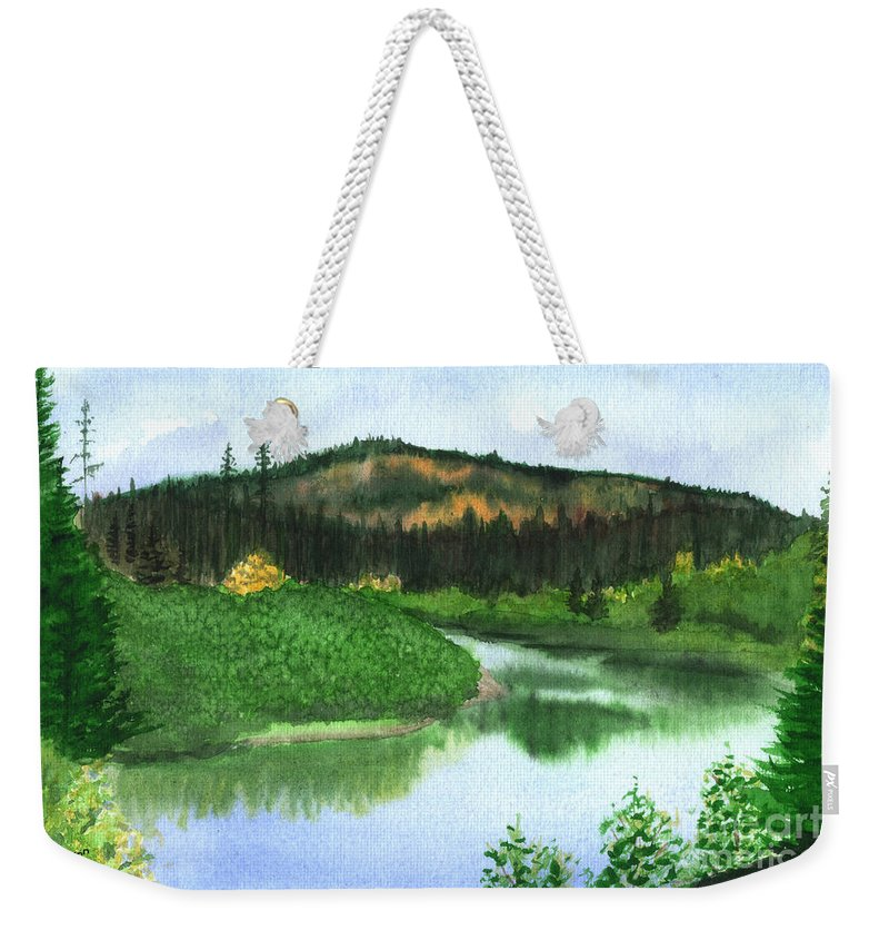 Autumn Weekender Tote Bag featuring the painting Autumn Transition by Lynn Quinn