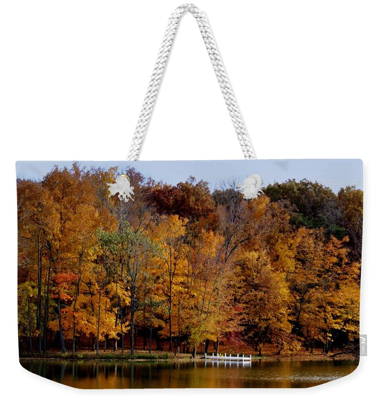 Autumn Trees Weekender Tote Bag featuring the photograph Autumn Trees by Sandy Keeton