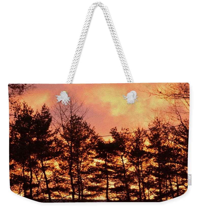 Autumn Weekender Tote Bag featuring the photograph Autumn Twilight by Sonali Gangane