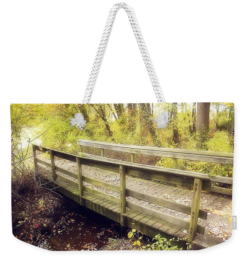 2d Weekender Tote Bag featuring the photograph Autumn Walk by Brian Wallace