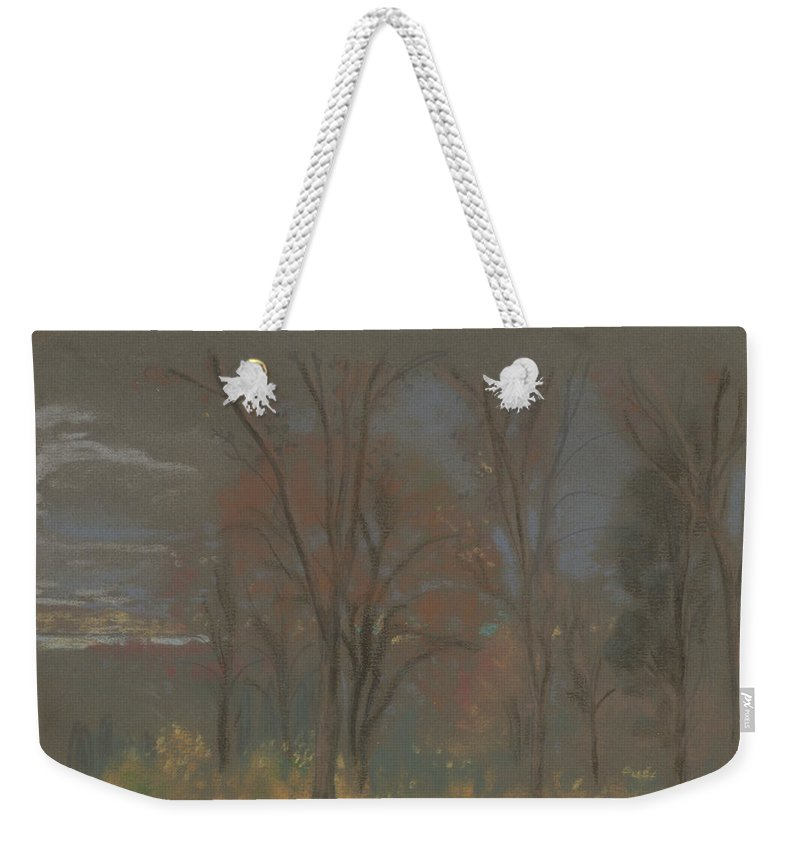 19th Century Art Weekender Tote Bag featuring the pastel Autumn Woods by Arthur Bowen Davies