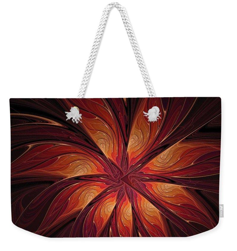 Digital Art Weekender Tote Bag featuring the digital art Autumnal Glory by Amanda Moore