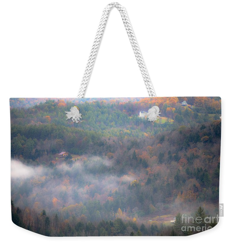 Morning Weekender Tote Bag featuring the photograph Autumns Fading Color by Sherman Perry