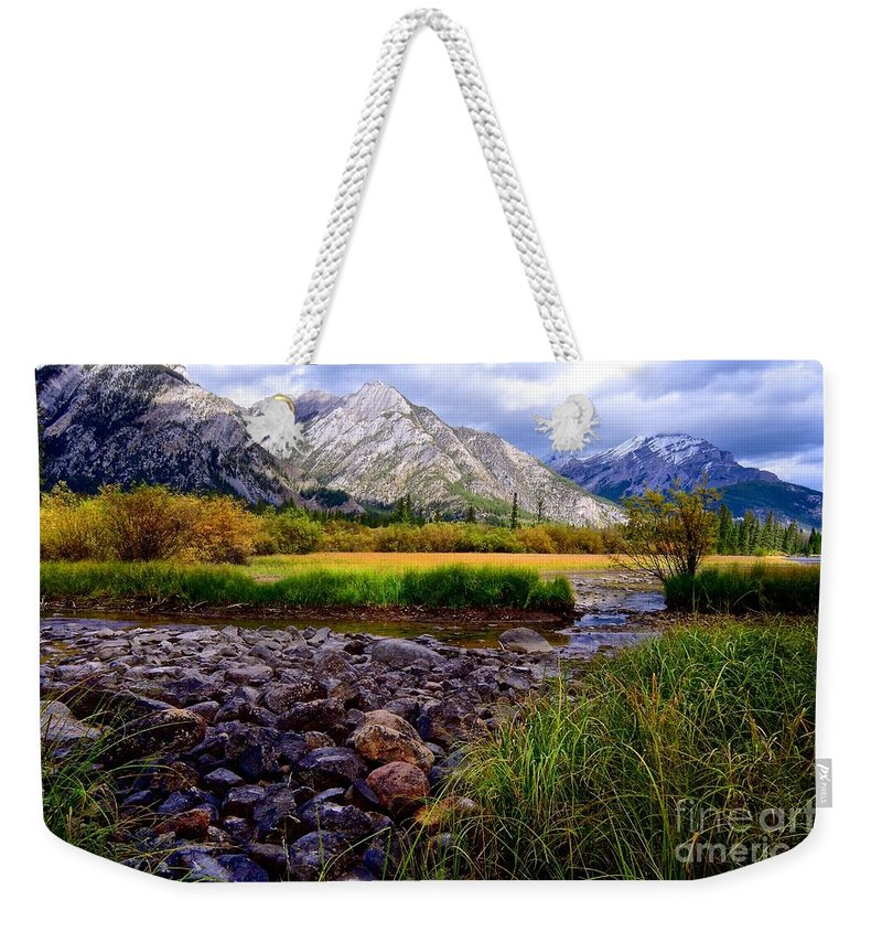 Autumn Weekender Tote Bag featuring the photograph Autumn's Here by DJ MacIsaac