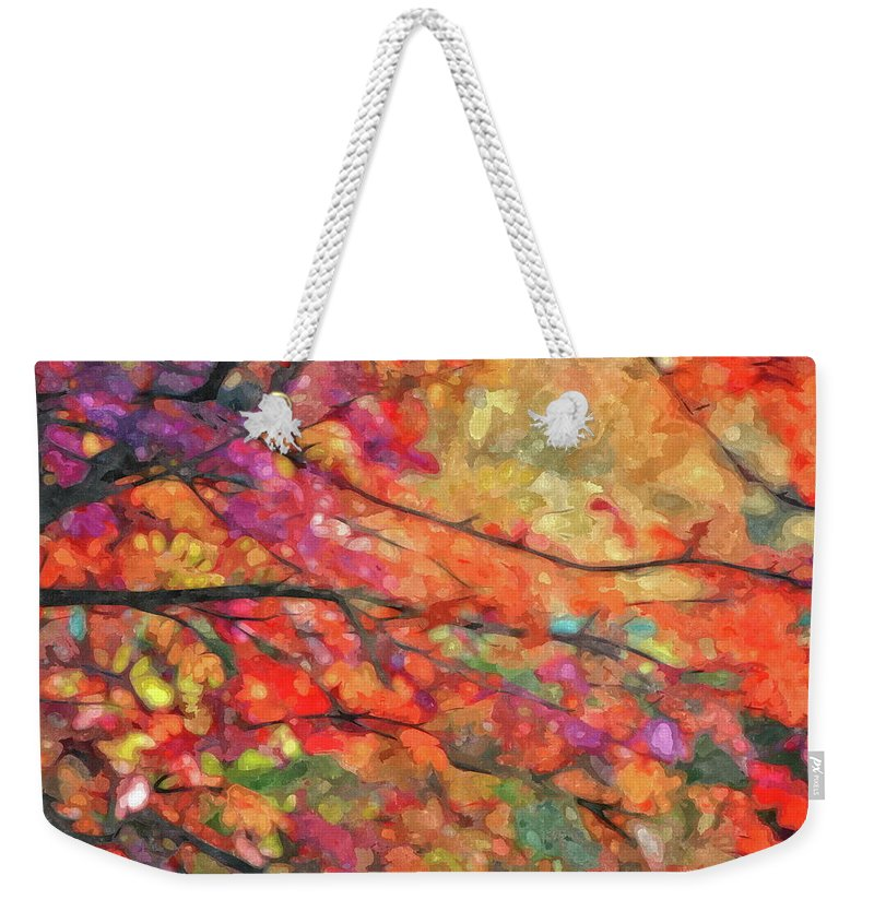 Autumn Weekender Tote Bag featuring the photograph Autumns Splendorous Canvas by Andrea Kollo