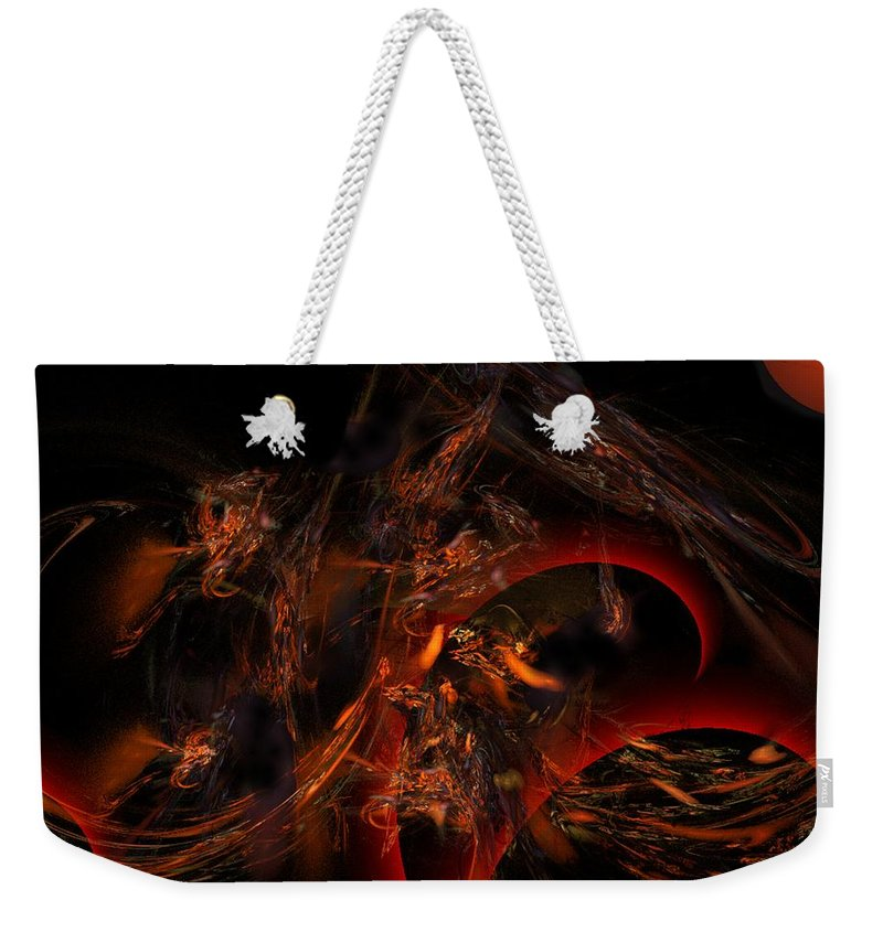 Abstract Digital Painting Weekender Tote Bag featuring the digital art Autums Winds 2 by David Lane