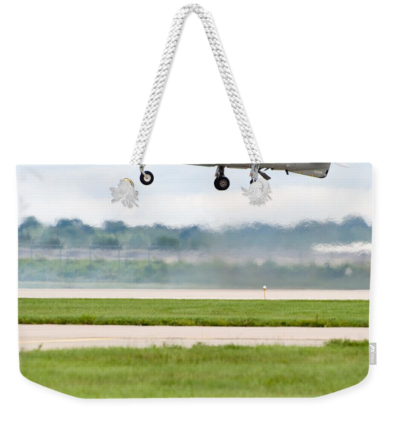 Airplane Weekender Tote Bag featuring the photograph Av-8 Harrier by Sebastian Musial
