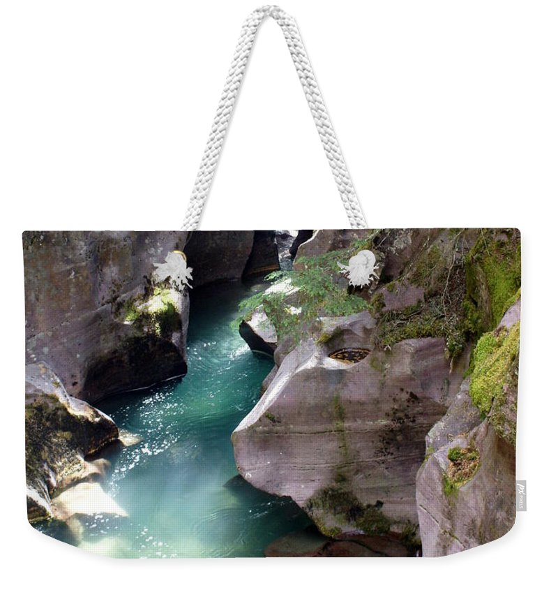 Glacier National Park Weekender Tote Bag featuring the photograph Avalanche Creek Glacier National Park by Marty Koch